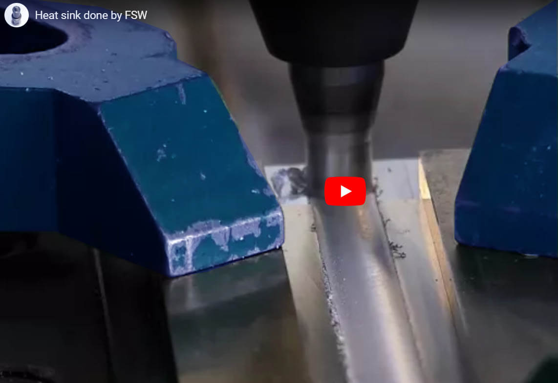 Stirweld fabrication plaque froide