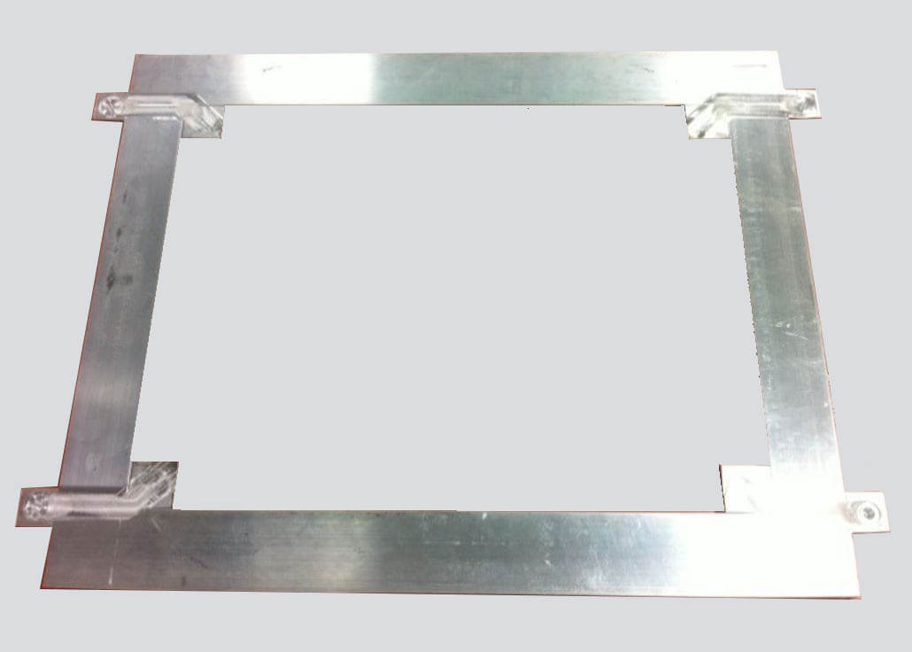 Frame made with aluminum profiles
