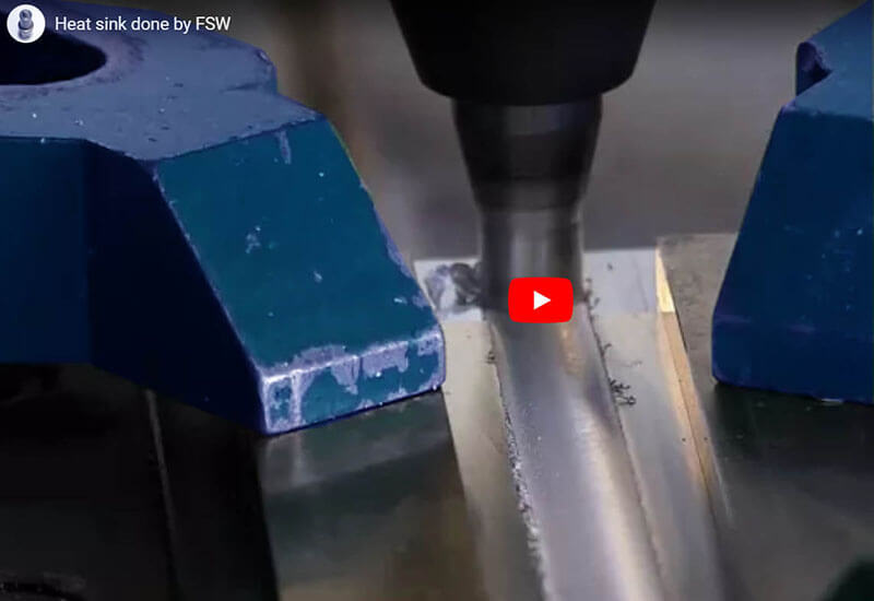 Stirweld FSW video of  heat sink