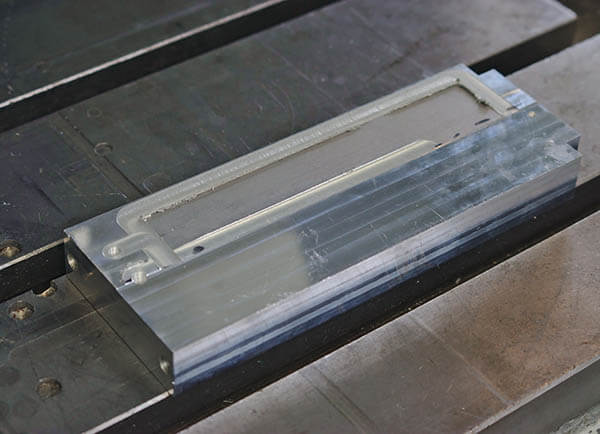 Stirweld assembled cold plate with FSW