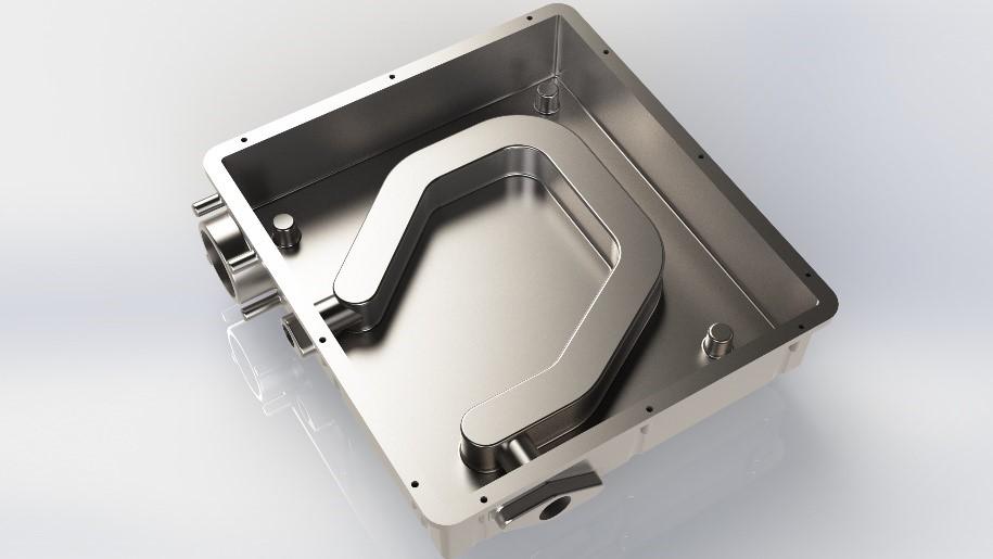 plaque froide en aluminium moulée sous pression