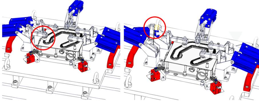 configuración de la unión de soldadura por fricción-agitación