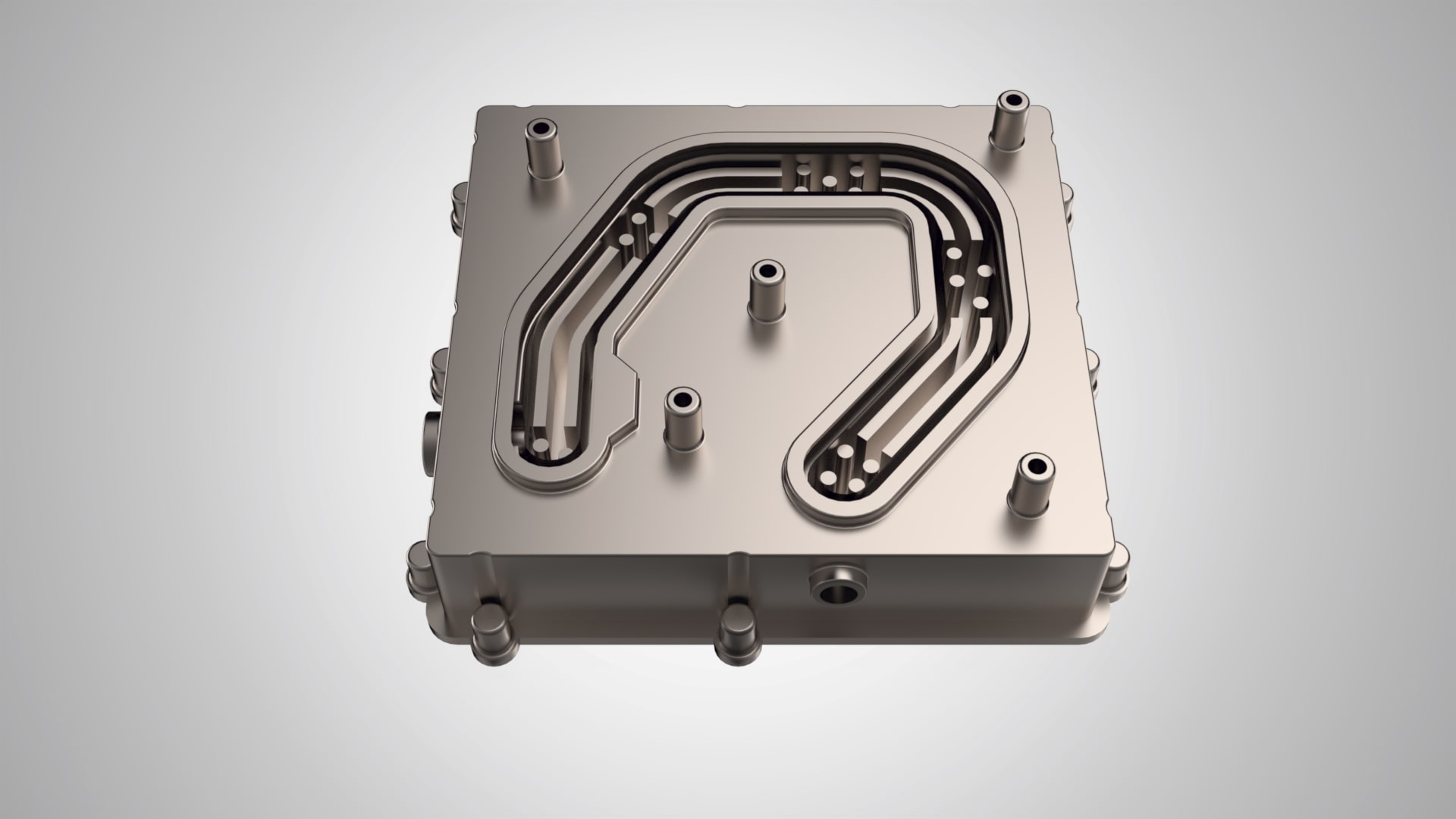 Internal part of a water heat sink for E-mobility
