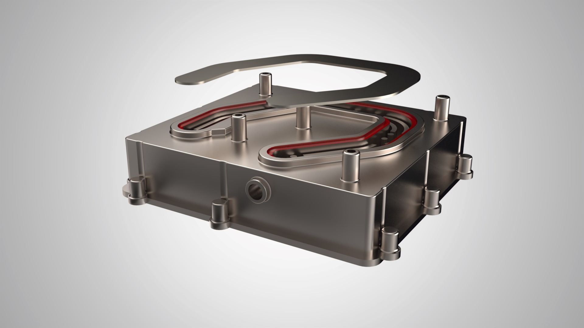 Heat sink parts before FSW