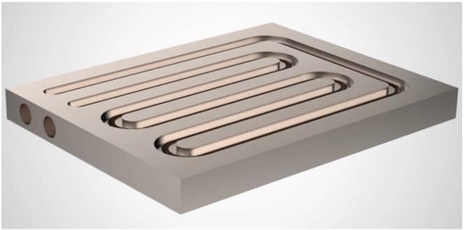 Plaque froide usinée en aluminium