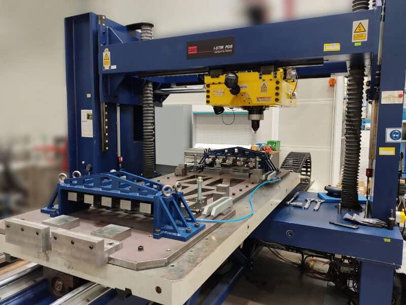 Sistema de sujeción en máquina FSW